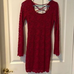 Red Lace Dress | Size S
